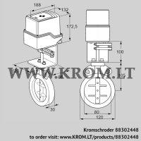 Butterfly valve IDR80Z03D100AU/50-30W20E (88302448)