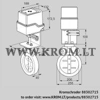 Butterfly valve IDR200Z03D100AU/50-07W7E (88302715)