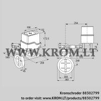 Butterfly valve IDR300Z03A650GAW/50-60W30TR10 (88302799)