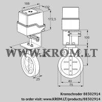 Butterfly valve IDR40Z03A100AU/50-30W20E (88302914)