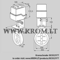 Butterfly valve IDR300Z03D100AS/50-30W20E (88302977)