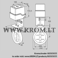 Butterfly valve IDR250Z03D100AS/50-60W30E (88303035)