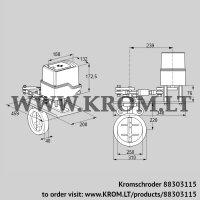 Butterfly valve IDR250Z03A650GAW/50-15W15E (88303115)