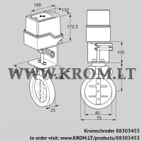 Butterfly valve IDR40Z03D100AS/50-60W30E (88303453)