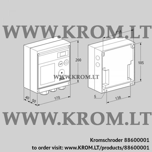 Kromschroder Burner control unit BCU370WI1FEU0D1, 88600001