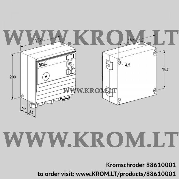 Kromschroder Burner control unit BCU460-3/2WGBS2B1/1, 88610001