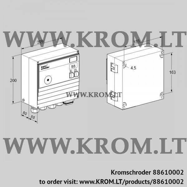 Kromschroder Burner control unit BCU465-5/1LW3GBS3AB1/1, 88610002