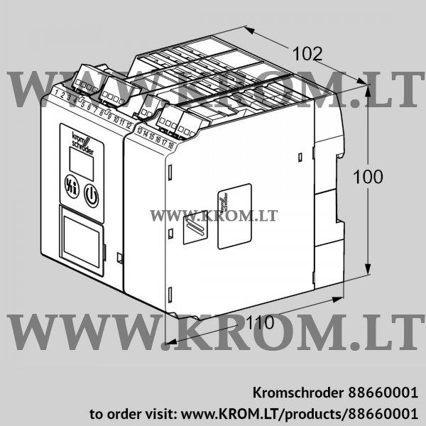 Kromschroder Burner control unit BCU570WC0F1U0K2-E, 88660001