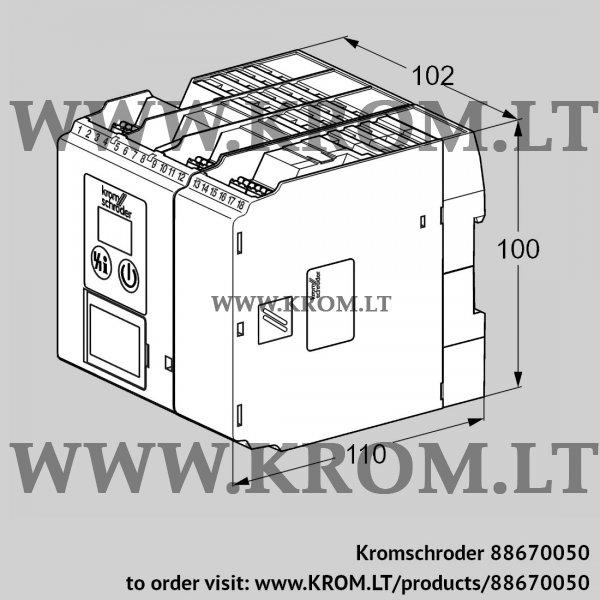 Kromschroder Burner control unit BCU580WC0F1U0D0K0-E, 88670050