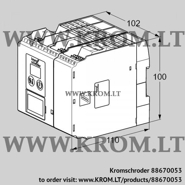 Kromschroder Burner control unit BCU565WC0F3U0D0K0-E, 88670053