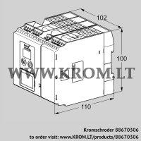 Burner control unit BCU560QC1F3U0D1K1-E (88670306)